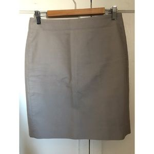 J Crew Petit Cotton Pencil Skirt